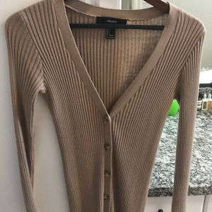 Forever 21 long ribbed cardigans both size S